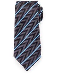 Navy Herringbone Tie