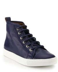 Navy High Top Sneakers