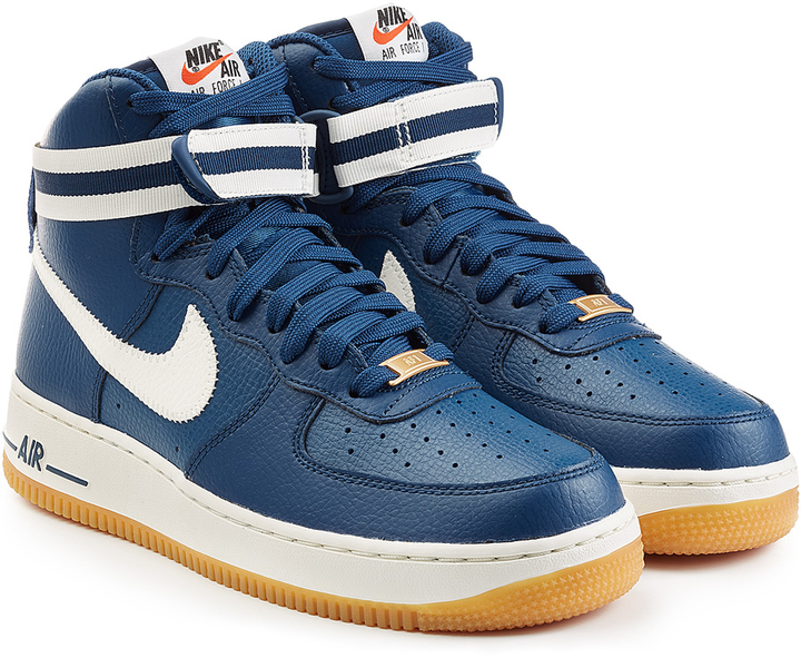 premium selection d3c81 b6117 ... Navy High Top Sneakers Nike Air Force 1 Mid 07 Leather High Top  Sneakers ...