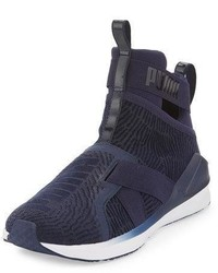 Fierce high top strap flocking sneaker blue medium 3714407