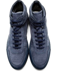 5c33d3eb2ecd0 ... Common Projects Navy Nubuck Basketball High Top Sneakers ...