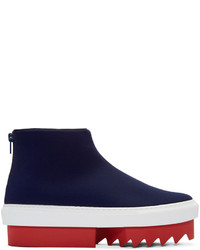 Givenchy Navy Platform High Top Sneakers