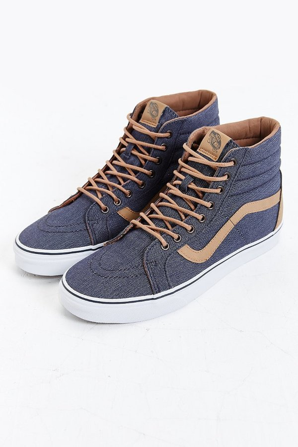 44a058bf34 ... Vans Sk8 Hi Reissue Denim Sneaker ...