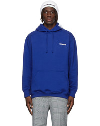 Vetements Blue Logo Hoodie