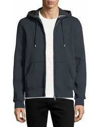 Burberry Claredon Jersey Hoodie Wcheck Lining Navy