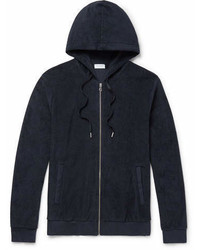 Sunspel Cotton Terry Zip Up Hoodie
