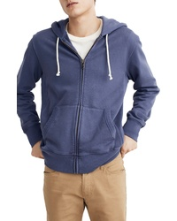 Madewell Gart Dyed Zip Front Hoodie Sweatshirt