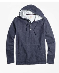 Brooks Brothers Jacquard Henley Hoodie