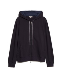 Canali Jersey Zip Up Hoodie