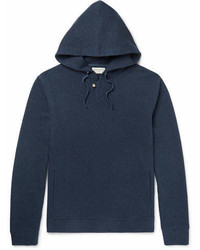 Oliver Spencer Loungewear Textured Cotton Hoodie