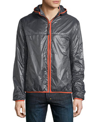 Andrew Marc Marc New York By Harrington Hooded Zip Front Jacket Ironorange