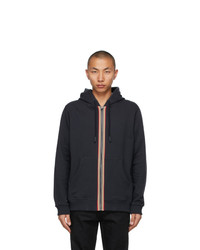 Burberry Navy Icon Stripe Lexington Hoodie