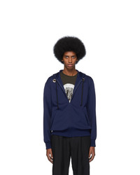 Comme des Garcons Homme Deux Navy Thick Hoodie