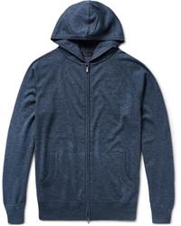 Loro Piana Portland Silk And Cashmere Blend Zip Up Hoodie