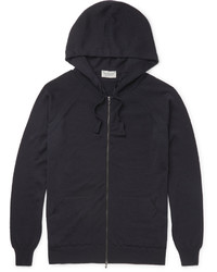 John Smedley Reservoir Merino Wool Zip Up Hoodie