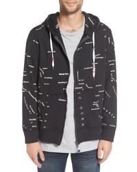 San fran city map zip hoodie medium 816142