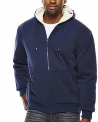 Asstd National Brand Sherpa Lined Hoodie Jacket