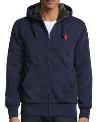 Uspa Us Polo Assn Long Sleeve Full Zip Sherpa Hoodie