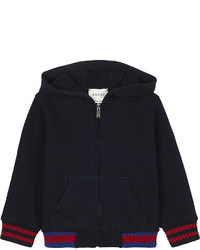 Gucci Web Cuff Zip Front Cotton Hoody 6 36 Months