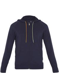 Paul Smith Zip Through Cotton Hooded Sweatshirt