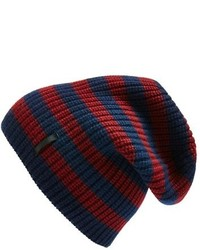 Navy Horizontal Striped Beanie