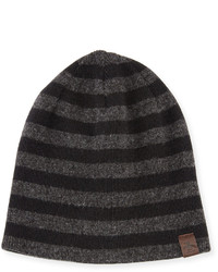 Original Penguin Penguin Ashmore Striped Knit Beanie Hat Black