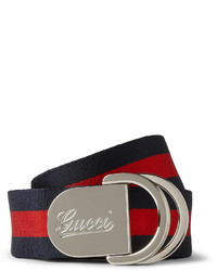 d504a441b Men's Horizontal Striped Belts by Gucci | Men's Fashion | Lookastic.com