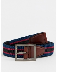 Ted Baker Greep Reversible Webbing Belt In Navy