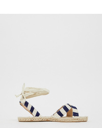 ASOS DESIGN Wide Fit Jala Espadrille Flat Sandals