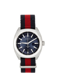 Gucci Silver And Blue Gg2570 Watch