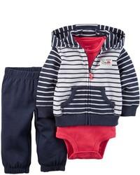 Carter's 3 Piece Cardigan Set Navywhite Stripe 18 Months