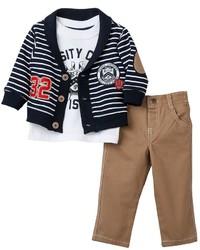 Boyzwear 32 Varsity Crew Division Cardigan Set Boys 4 7