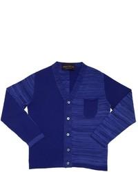 Fabrizio Del Carlo Striped Cotton Tricot Cardigan
