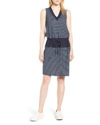 Kenneth Cole New York Mixed Media Drawstring Dress