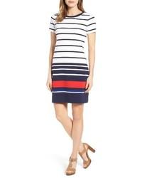 MICHAEL Michael Kors Petite Michl Michl Kors Stripe Ottoman T Shirt Dress