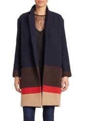 Multi striped drop shoulder coat medium 891884