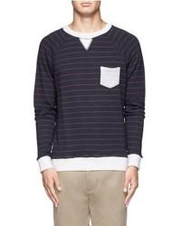 Nobrand Contrast Striped Cotton Pullover