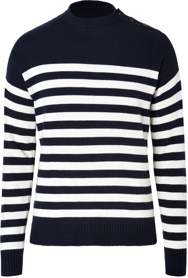 Ralph Lauren Blue Label Cotton Cashmere Striped Pullover In ...
