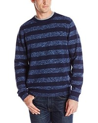 Izod Cane Bay 9 Gg Slub Rugby Stripe Crew Neck Sweater