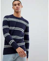 Tom Tailor Knitted Jumper In Boucle Wool Mix With Stripe