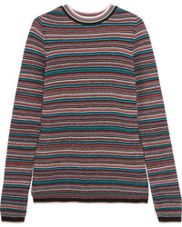 MiH Jeans Mih Jeans Moonie Striped Merino Wool Sweater Blue