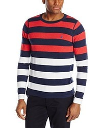Nautica Stripe Crew Neck Sweater