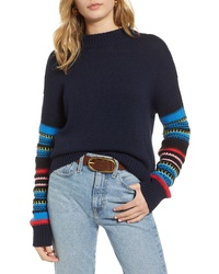 Treasure & Bond Patchwork Sleeve Pullover