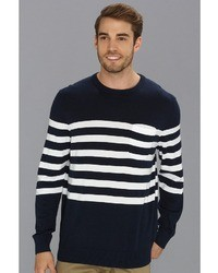 Nautica Pocket Stripe Crew Neck Sweater