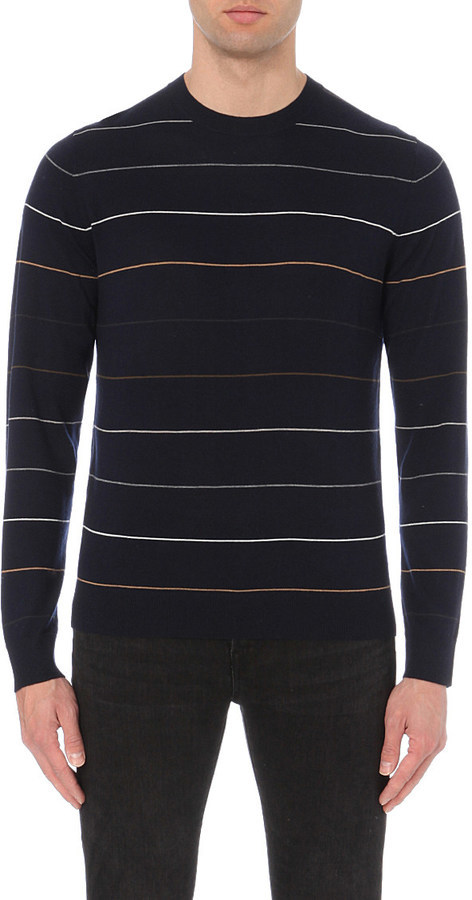 Paul Smith Ps By Fine Striped Knitted Jumper