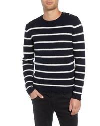 The Kooples Regular Fit Striped Sweater