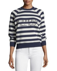 Selune striped logo intarsia sweater medium 4353315