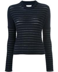 Sheer stripe knitted jumper medium 1192467