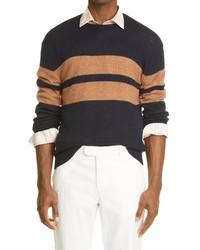 Eleventy Stripe Virgin Wool Sweater