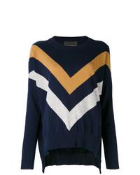 Erika Cavallini Striped Print Sweater